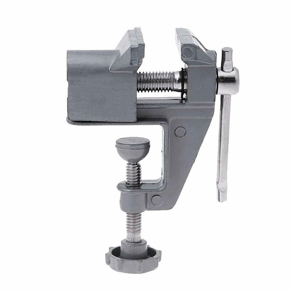 Mini Table Vise Aluminum Alloy Bench Vice Swivel Lock Clamp Craft Hobby Cast New